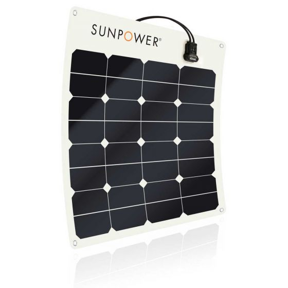 SunPower 50W Flexible Marine Solar Panel