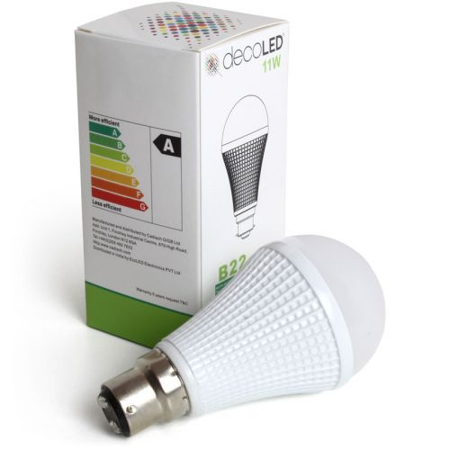 EcoLED 11W Dimmable B22 Bayonet Cap LED Light Bulb