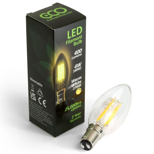 ECO Dimmable LED Candle Bulb B15