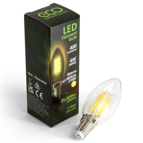 ECO LED Filament Candle Bulb E14