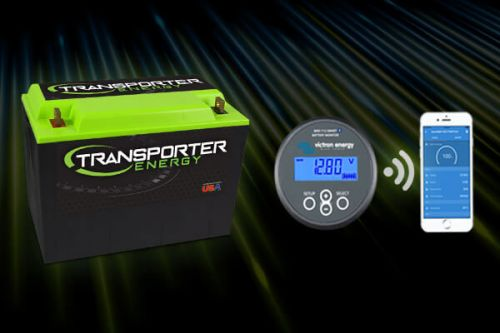 Transporter Energy Lithium Ion Battery with Victron Smart Monitor and app