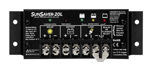 Morningstar SunSaver 20L Solar Charge Controller 24V 20A