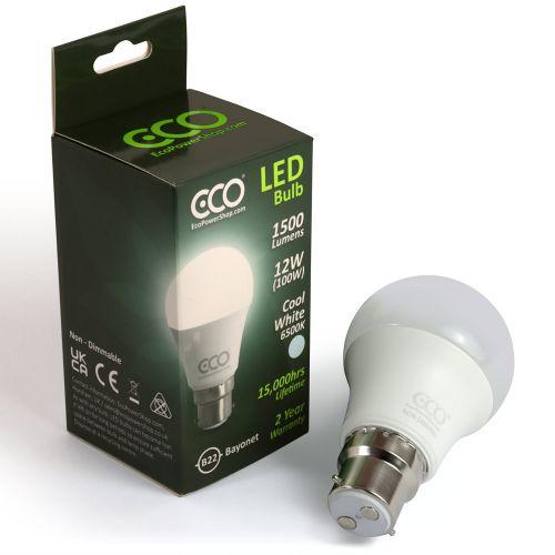 ECO 100W Daylight LED Light Bulb, B22 Bayonet