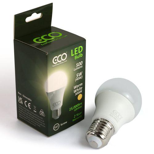 ECO 40W LED Light Bulb, Warm White, E27 Screw