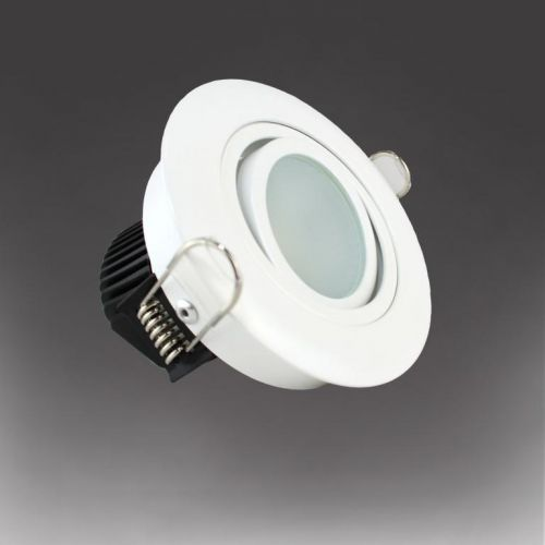EcoLED ZEP1 7W Dimmable Adjustable LED Downlight - White 4000k