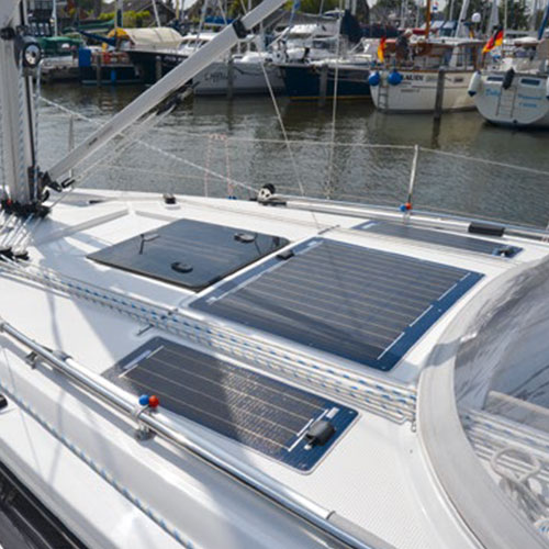 Solara panels on boat