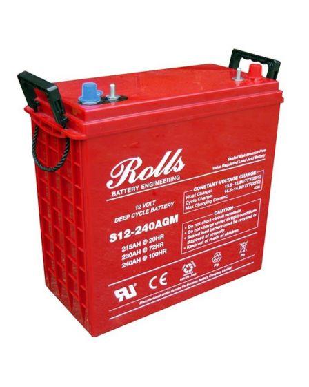 Rolls Solar AGM Series 5 Deep Cycle 12V Battery 237Ah (C100) 193Ah (C10)