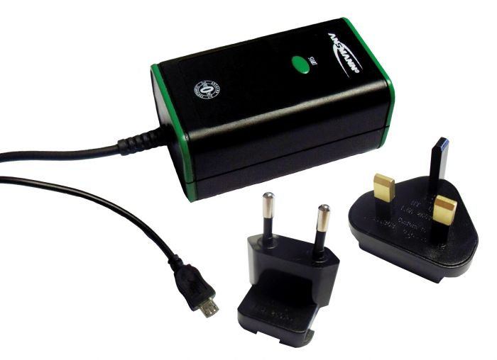 Universal micro USB charger by Ansmann