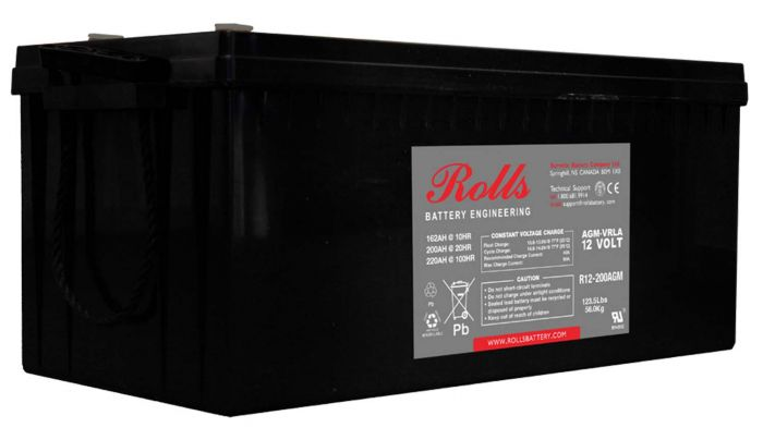 Rolls Solar AGM Series 2 12V Deep Cycle Battery - 220Ah (C100) 162Ah (C10)