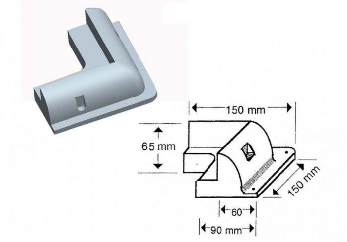 Solar Panel Adhesive Corner Mount - Box of 1