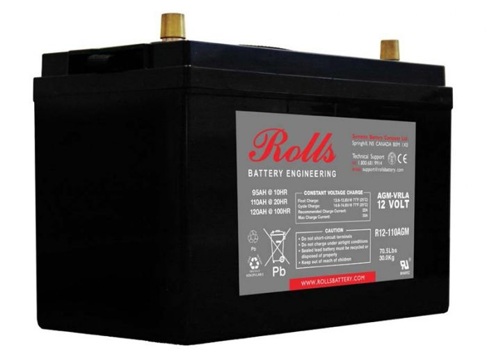Rolls Solar AGM Series 2 12V Deep Cycle Battery - 120Ah (C100) 90Ah (C10)