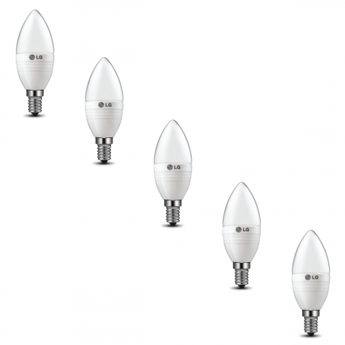 LG 5W Dimmable Frosted Candle Bulb