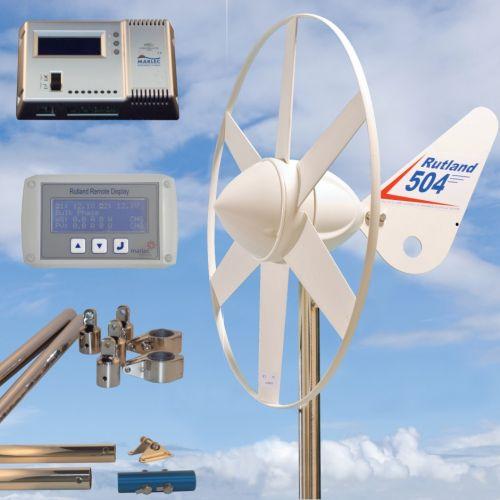 Rutland 504 Wind Turbine HRDi Remote Display Mast Pole 1.2m Stays Kit 8