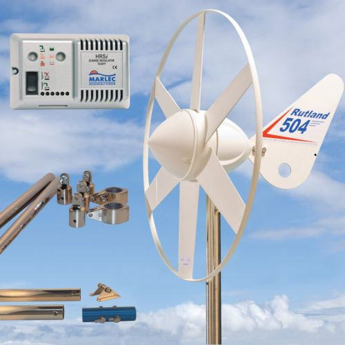 Rutland 504 Wind Turbine HRSi Mounting Pole 1.35m Stays Kit 10