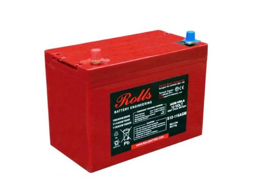 Rolls Solar AGM Series 5 Deep Cycle 12V Battery - 116Ah (C100) 95Ah (C10)