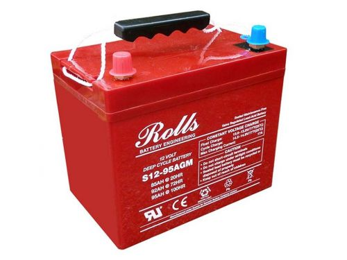 Rolls Solar AGM Series 5 12V Deep Cycle Battery - 94Ah (C100) 77Ah (C10)
