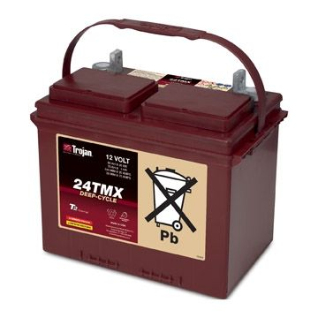 Trojan 24TMX 12V Deep Cycle Flooded (Wet) Lead-Acid Battery