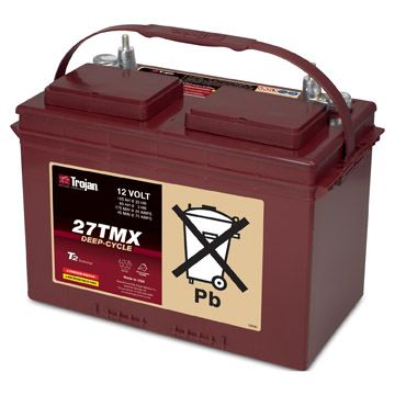 Trojan 27TMX 12V Deep Cycle Flooded (Wet) Lead-Acid Battery