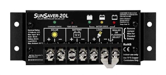 Morningstar SunSaver 20L Solar Charge Controller 24V 20A