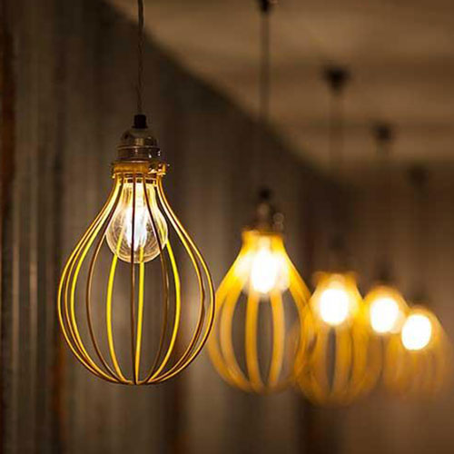 Joseph LED Filament Bulbs in Modern Light Fitting