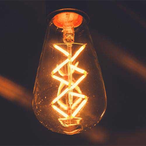Victoria pear shaped lattice LED filament bulb